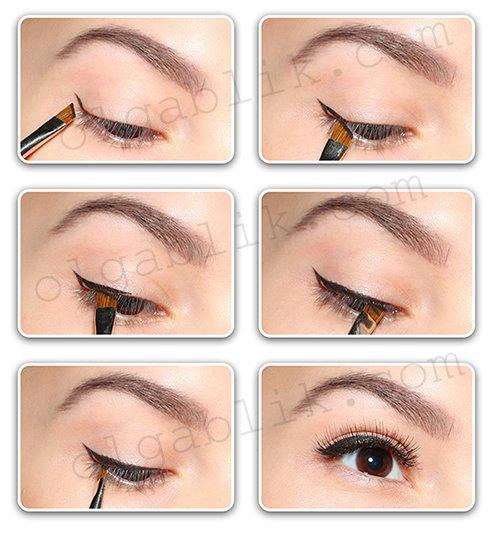 Как сделать стрелы на глазах