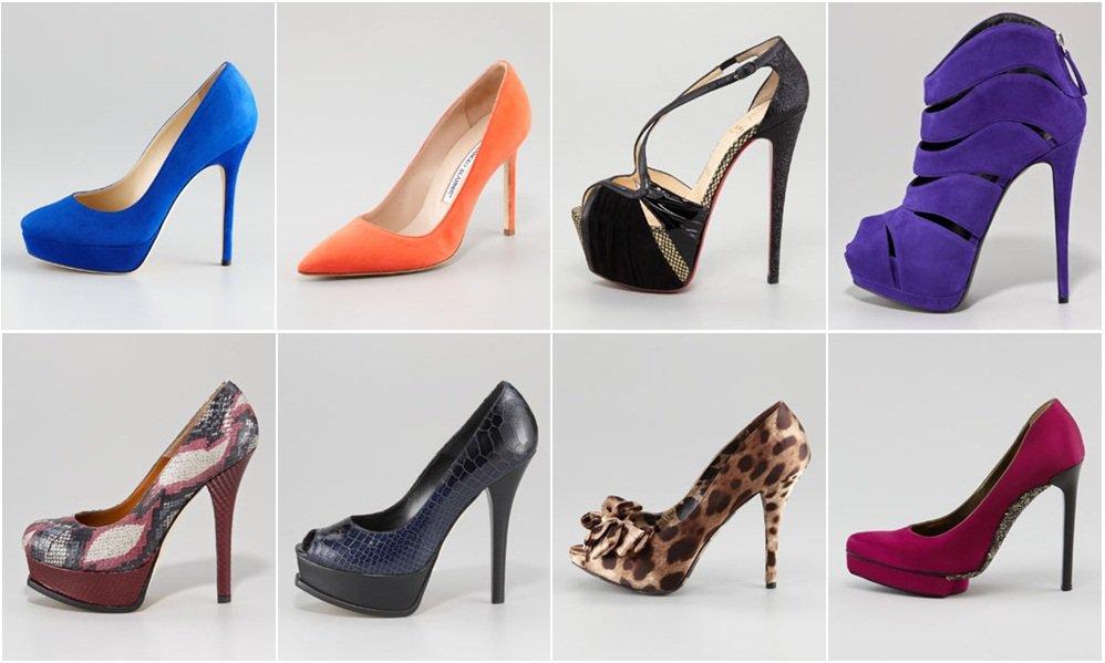 Женские туфли. и сапоги в картинках