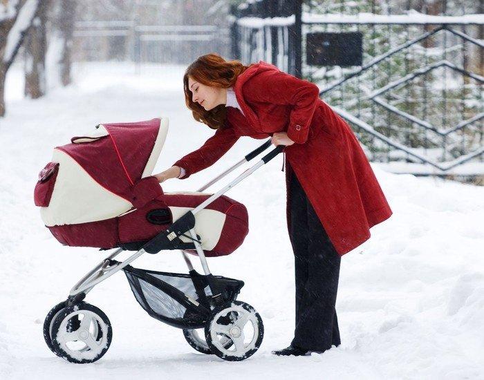 Картинки мамы и дети зимой